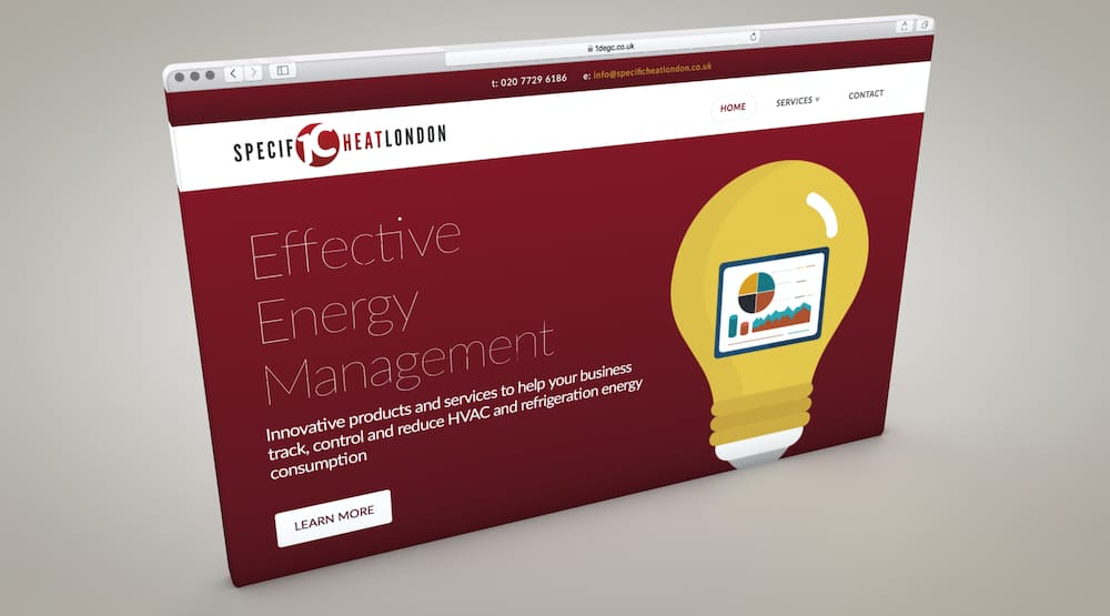 energy provider supply website design services