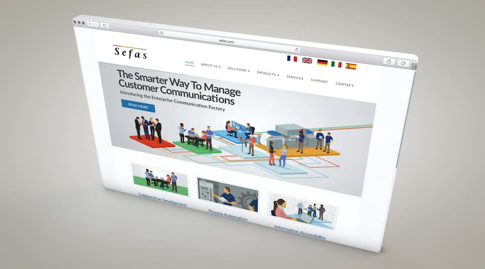 customer communications software website production services